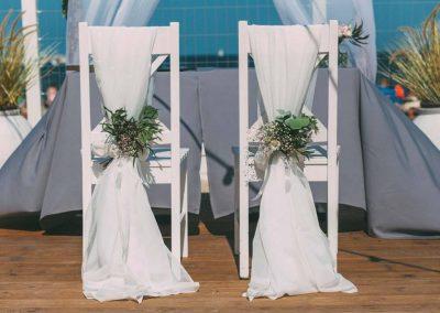 ślub dekoracje krzeseł