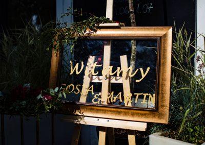 Tablica powitalna ślub