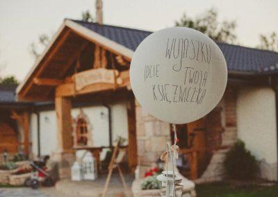 balonowe dekoracje na weselu