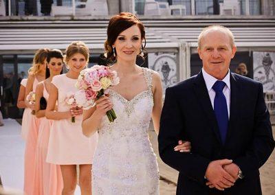 Ślub w plenerze na sopockiej plaży