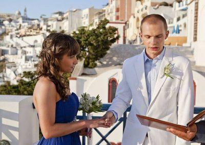 Ślub w greckim klimacie - Santorini